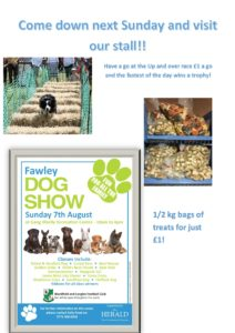 Come and visit us at the Fawley dog show 2016 Sunday August the 7th